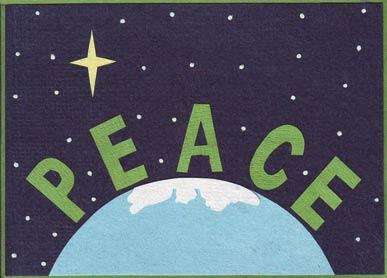 home cards christmas peace on earth sku 5039 category christmas - Peace On Earth Christmas Cards
