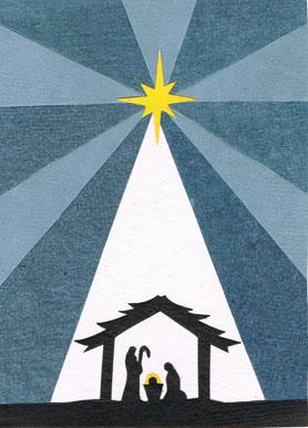 sku 5045 category christmas - Nativity Christmas Cards