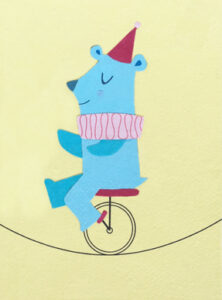 07-061 Unicycle  Bear