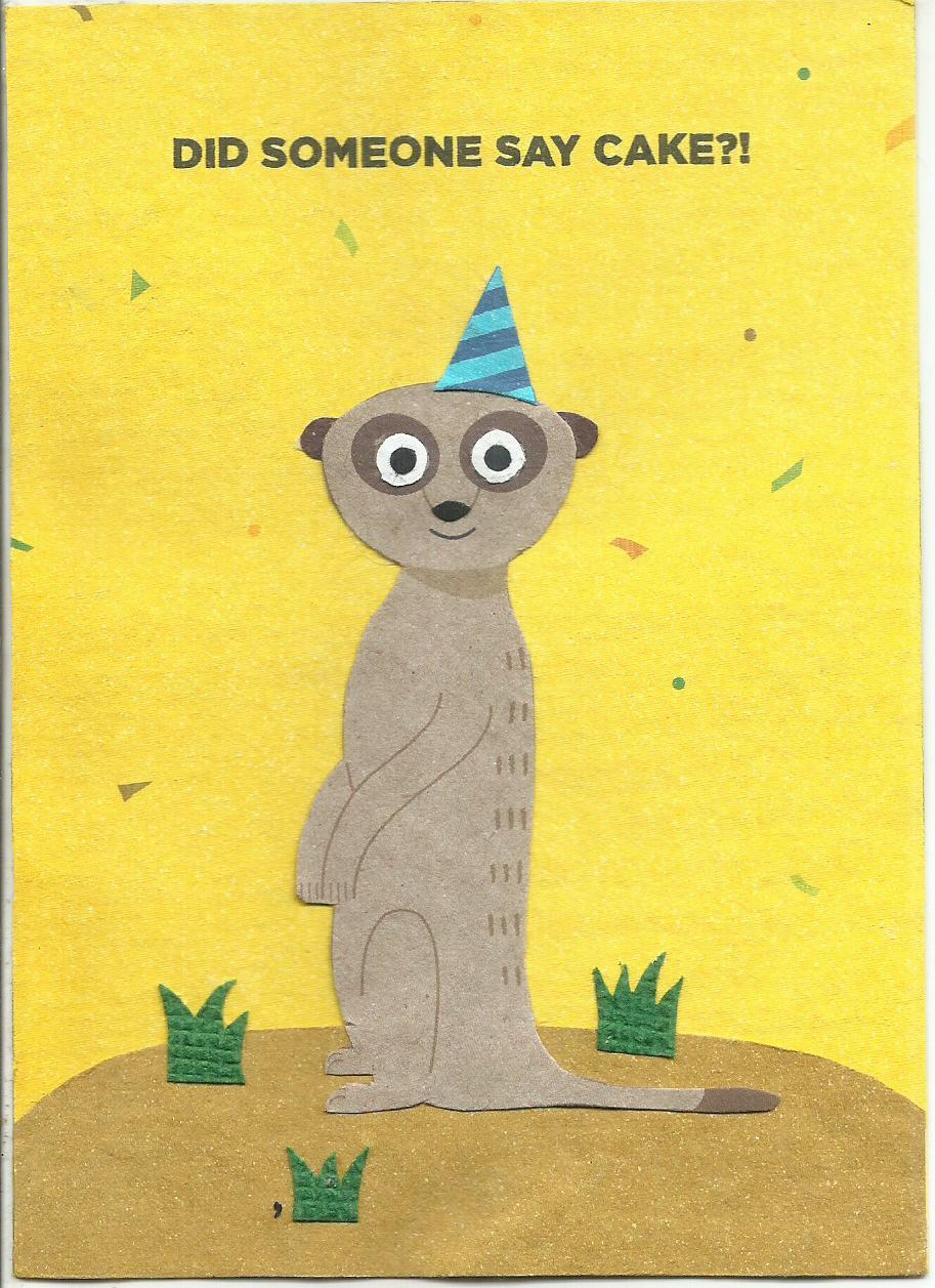 Meerkat Birthday Cards From Africa