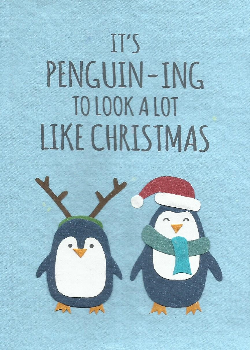 Penguin-ing Christmas - Cards from Africa